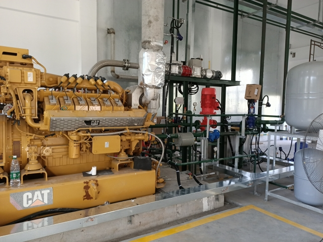 600KW Caterpillar Biogas Gas generator and related wire works