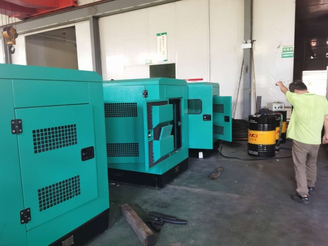 3 units 80KW gensets with Synchronization panels for Nigeria